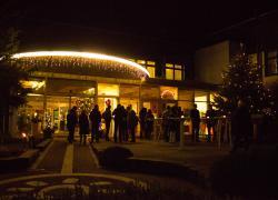 Glühweinempfang vor dem Hotel in Wurzbach