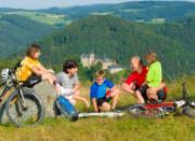 Rad fahren zur Burg Lauenstein