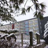 Blick auf Hotel am 26.1.2015