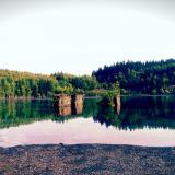Blick übers Wasser